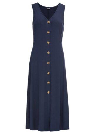 Letnia sukienka z guzikami bonprix ciemnoniebieski