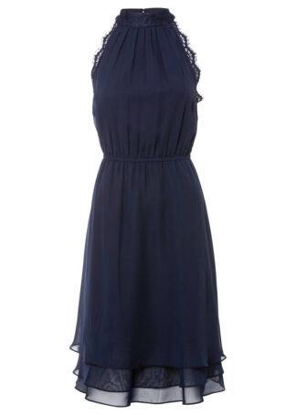 Sukienka z koronką bonprix ciemnoniebieski