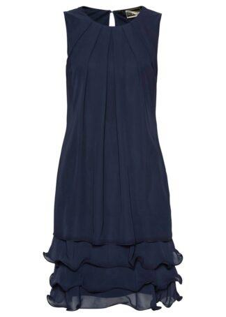 Sukienka szyfonowa z poliestru z recyklingu