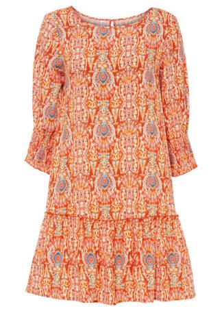 Sukienka bonprix pomarańczowy paisley