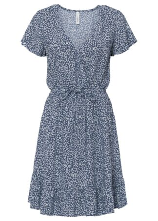 Sukienka LENZING™ ECOVERO™ bonprix niebieski indygo w kwiaty
