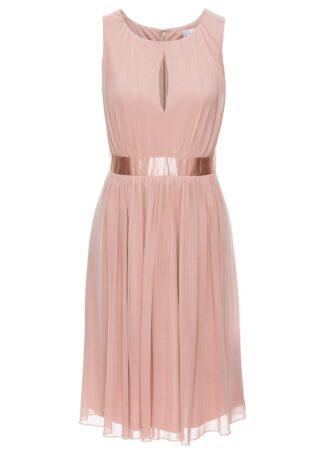 Sukienka z siatkowego materiału bonprix stary jasnoróżowy