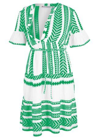 Sukienka ciążowa i do karmienia bonprix zieleń trawy z nadrukiem