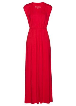 Długa sukienka z dżerseju LENZING™ ECOVERO™ bonprix truskawkowy