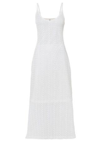 Sukienka szydełkowa bonprix biel wełny