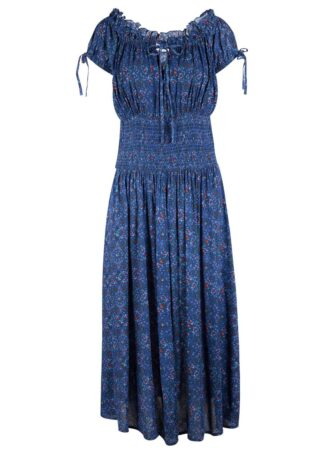 Sukienka midi z nadrukiem bonprix niebieski z nadrukiem