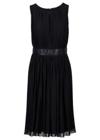 Sukienka z siatkowego materiału bonprix czarny