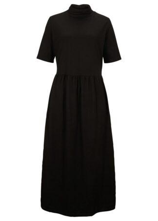 Sukienka maxi z dżerseju bonprix czarny