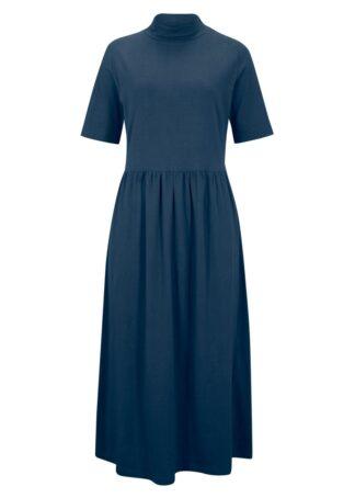 Sukienka maxi z dżerseju bonprix ciemnoniebieski