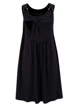 Sukienka ciążowa i do karmienia LENZING™ ECOVERO™ bonprix czarny