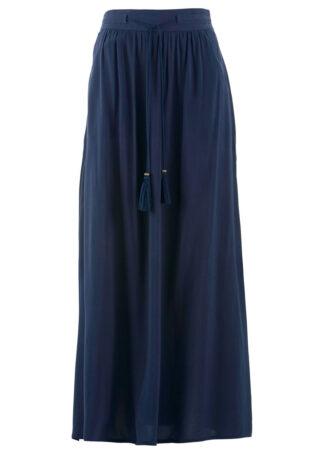 Spódnica z wiskozy bonprix ciemnoniebieski