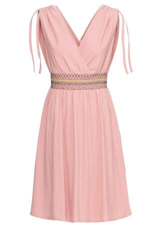 Sukienka z drapowaniem bonprix jasnoróżowy