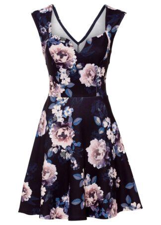 Sukienka z nadrukiem bonprix czarny w kwiaty