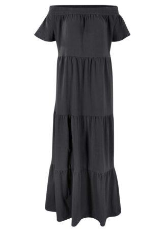 Długa sukienka z dżerseju z bawełny