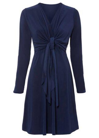 Sukienka z bolerkiem bonprix ciemnoniebieski