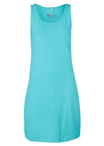 Sukienka z dżerseju ze stretchem bonprix matowy morski