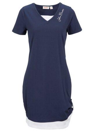 Sukienka shirtowa w optyce 2 w 1