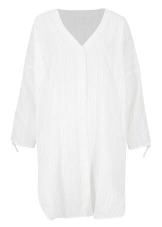 Sukienka koszulowa plażowa bonprix biały