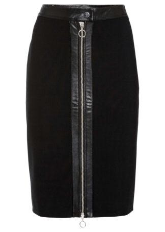 Spódnica ołówkowa z zamkiem bonprix czarny