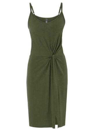 Sukienka shirtowa LENZING™ ECOVERO™ bonprix ciemny khaki