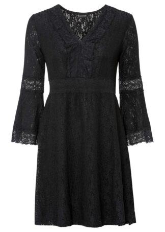 Sukienka koronkowa bonprix czarny