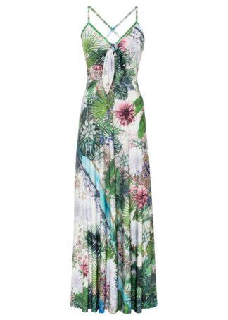 Sukienka bonprix zielony w kwiaty