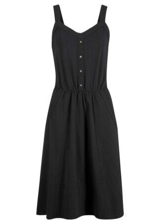 Sukienka bawełniana z dżerseju bonprix czarny