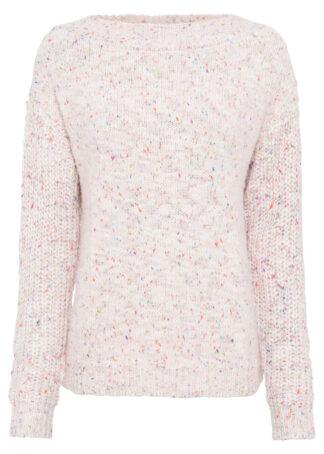 Sweter boxy bonprix kolorowy melanż