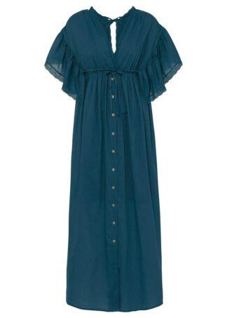 Długa sukienka bonprix niebieskozielony morski