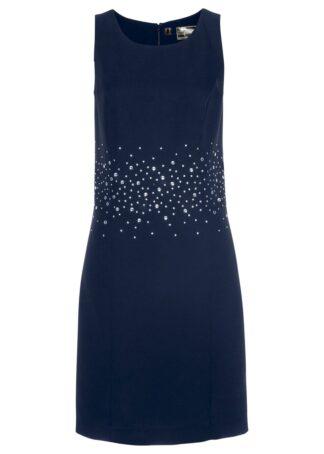 Sukienka ołówkowa z brokatowym połyskiem bonprix czarny