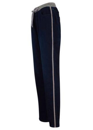Dżinsy z gumką w talii w optyce dresowych bonprix ciemnoniebieski