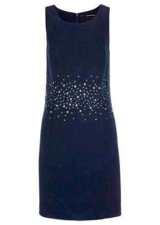 Sukienka ołówkowa z brokatowym połyskiem bonprix ciemnoniebieski