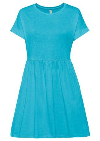 Sukienka shirtowa z kieszeniami bonprix turkusowy