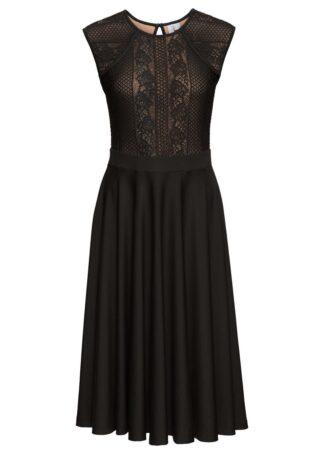 Sukienka z koronką bonprix czarny