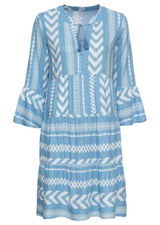 Sukienka oversize bonprix niebieski wzorzysty