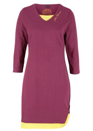 Sukienka shirtowa w optyce dwuwarstwowej