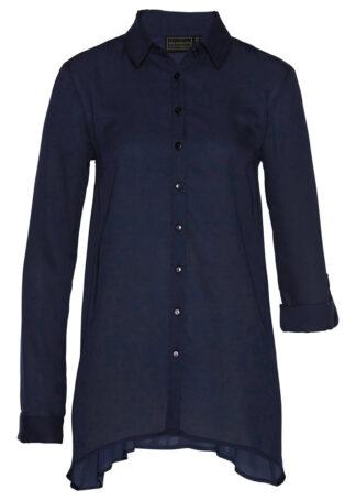Długa bluzka bonprix ciemnoniebieski